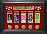 49ers super bowl tickets - NFL San Francisco 49ers Super Bowl Ticket and Game Coin Collection Framed, Gold, 32
