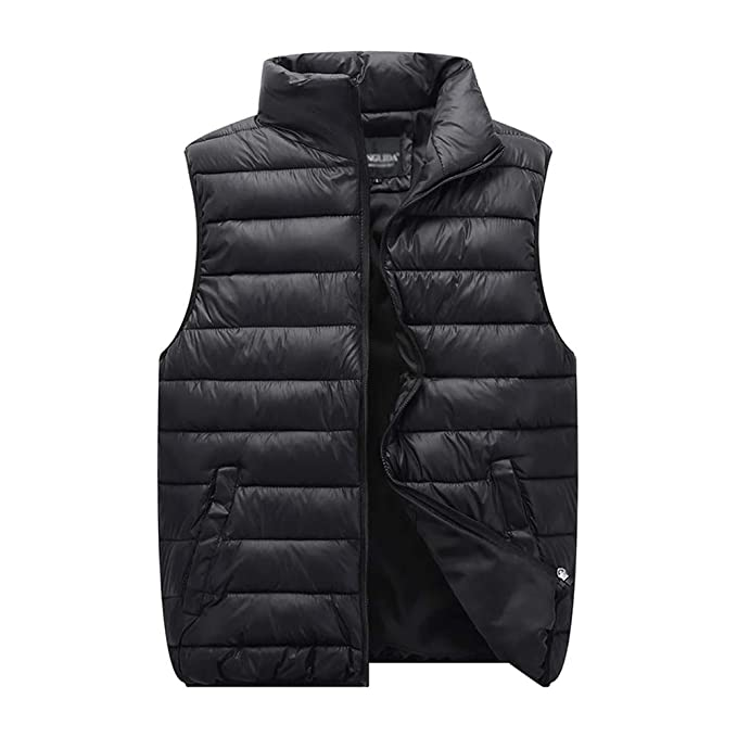 Mens Down Quilted Padded Gilet Vest Jacket Body Warmer Waistcoat Coat Jacket New