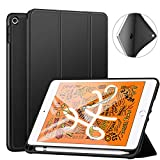 ZtotopCase for iPad Mini 5 2019 with Pencil Holder, Lightweight Soft TPU Back and Trifold Stand Smart Cover with Auto Sleep/Wake,Protective for iPad Mini 5th Generation 7.9' 2019 Release,Black