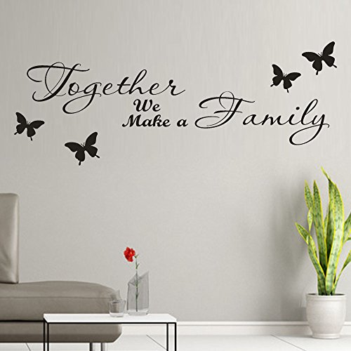 ^YW^^ ❤ Wall Stickers , Together We Make a Family Removable Art Vinyl Mural Home Room Decor Kids Rooms Wall Stickers -