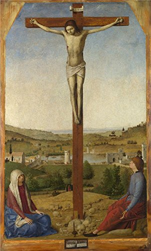 The High Quality Polyster Canvas Of Oil Painting 'Antonello Da Messina Christ Crucified ' ,size: 8 X 13 Inch / 20 X 34 Cm ,this High Definition Art Decorative Prints On Canvas Is Fit For Dining Room Decoration And Home Artwork And Gifts