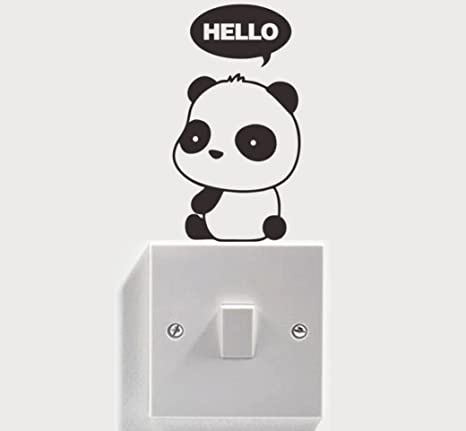 Amazon Com Tiyana Cartoon Panda Wall Stickers For Kids Room Pvc