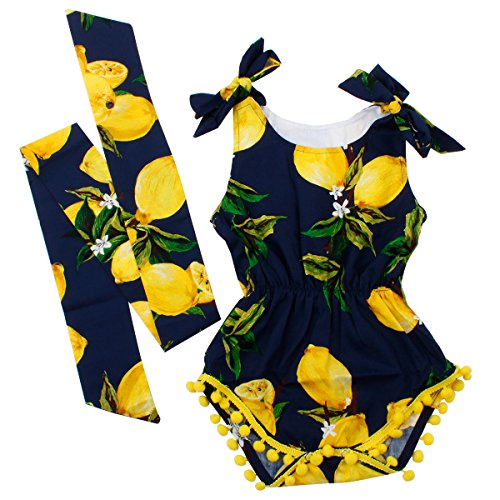 Baby Girls 2pcs Sets Cotton Romper and Band Outfits Clothes