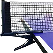 Comesee Kioos Collapsible Table Tennis Net Professional Steel Pingpong Net Clip Grip Mesh Training Competition