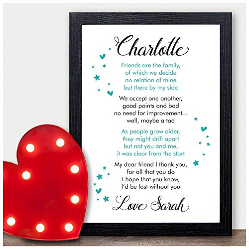 a282345e960b8 PERSONALISED Best Friend Friendship Plaque Sign Birthday Christmas Gifts  Present - PERSONALISED with ANY NAME and