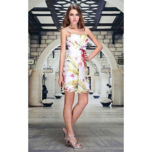 Design Cocktail bei Kleid Weiß Ital Festamo Mini Für Damen 4wd0WxU6q