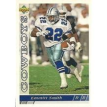 Emmitt Smith football card (Dallas Cowboys Hall of Fame) 1993 Upper Deck #359