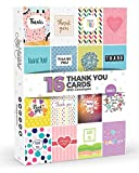 16 x Thank You Cards by Joy Masters Vol.1 | Multipack for Kids & Adults | Large Set for Men & Woman