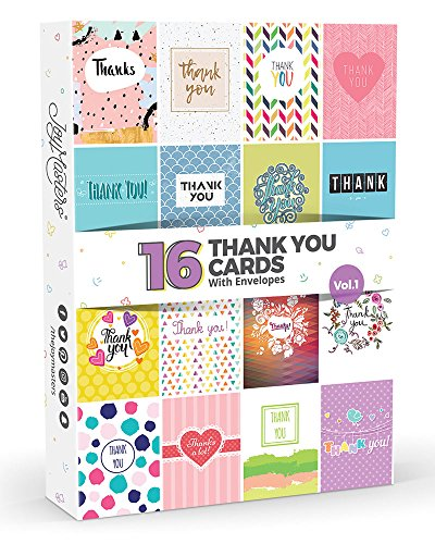 16 x Thank You Cards by Joy Masters Vol.1   Multipack for Kids & Adults  ...