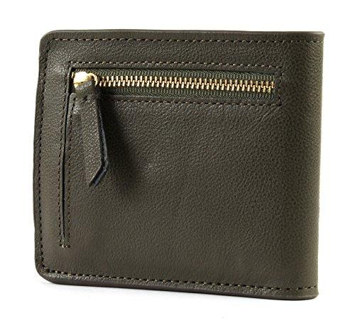 SCOTCH & SODA Classic Leather Billfold Wallet Army