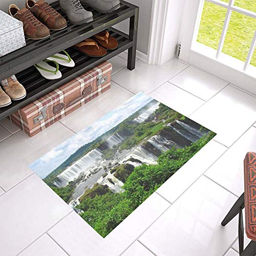(HUAPIN Tributaries of The Amazon River Welcome Cleaner Doormat for Home and Business Indoors and Outdoors Dirt Trapper Door Mat Non-Slip Entrance Rug Carpet 23.6