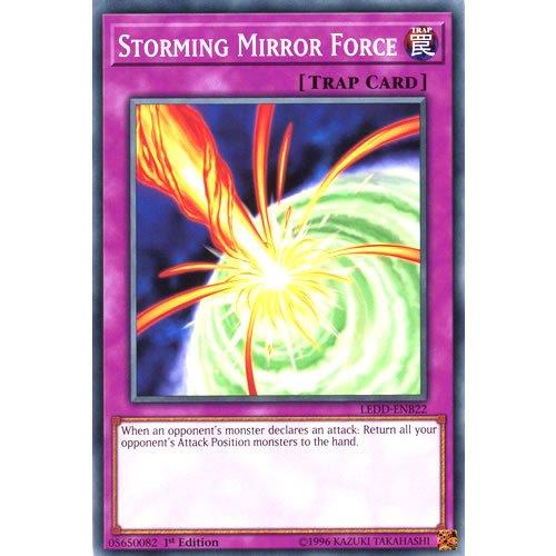 YuGiOh : LEDD-ENB22 1st Ed Storming Mirror Force Common Card - ( Legendary...