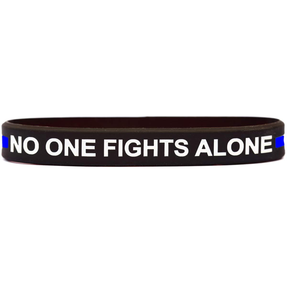 SayitBands 10 of Thin Blue Line No One Fights Alone Bracelets