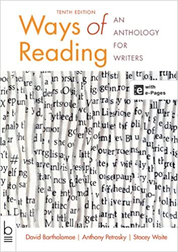 Ways of reading an anthology for writers david bartholomae ways of reading an anthology for writers 10th edition fandeluxe Images