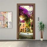 wallpaper door murals - CaseFan 3D Garden House Door Wall Mural Wallpaper Vinyl Removable Stickers for Home Decoration 30.3x78.7