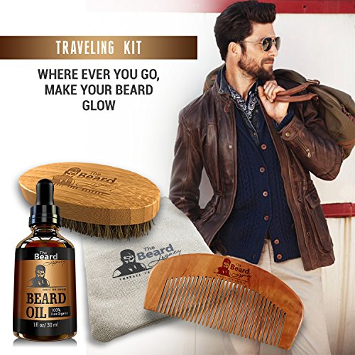premium beard brush comb oil handmade kit made in usa beard care 100 bamboo natural boar. Black Bedroom Furniture Sets. Home Design Ideas