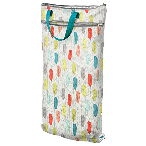 Planet Wise Hanging Wet/Dry Diaper Tote Bag, Quill