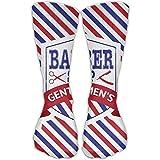 Men Women Vintage Emblem Of Barber Shop Flag Novelty Sport Stocking Socks Athletic