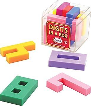 Popular Playthings Dígitos en una Caja apilamiento Juego: Amazon ...