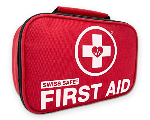 Swiss Safe 2-in-1 First Aid Kit (120 Piece) + Bonus 32-Piece Mini First Aid Kit: Compact, Lightweight for Emergencies at Home, Outdoors, Car, Camping, Workplace, Hiking & Survival (Best Survival Medical Kit)