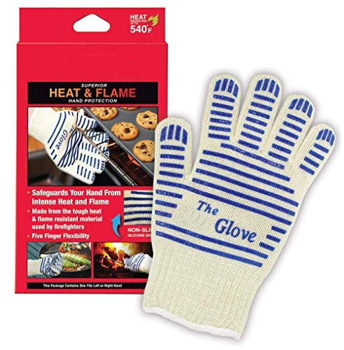 ('Ove' Glove, Heat Resistant, Hot Surface Handler Oven Mitt/Grilling Glove, (Pack of 2) Perfect for Kitchen/Grilling, 540 Degree Resistance, As Seen On TV Household Gift )