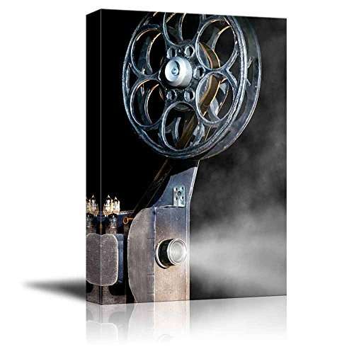 Canvas Prints Wall Art - Vintage/Retro Style Movie Projector