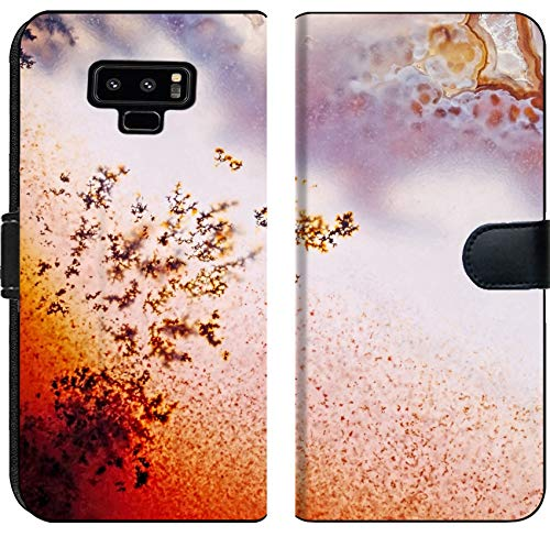 Samsung Galaxy Note 9 Flip Fabric Wallet Case Image ID 24171559 Jewelry and Decorative Stone Moss Agate Macro Raw Rough Plate Kazakhs