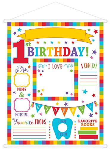 Amscan 270211 1st Birthday Milestone Sign, 24
