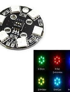 5050 rgb llevó el módulo 12v 7 colores puede ser color llevó las luces decorativas de módulos para robot coche elegante y aircarft eje