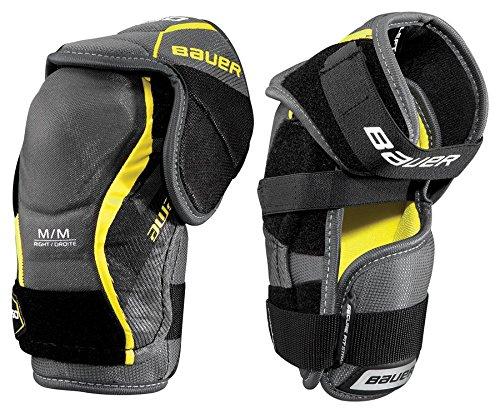 (Bauer S17 Supreme S150 Junior Elbow Pad, Grey/Black, Small)