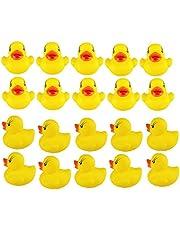 TREESTAR Zabawki mini żółte kaczki piszcząca guma urocza kąpiel zabawka plażowa zabawka baby shower urodziny przyjęcie prezent 20 szt