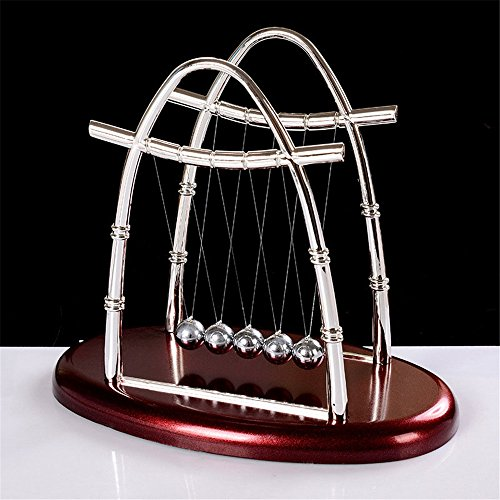 Ovovo Classic Newton's Cradle Balance Balls Physics Science Puzzle Desk Decor for Home& Office (Newton Isaac S)