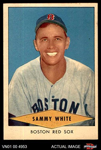 1954 Red Heart Sammy White Boston Red Sox (Baseball Card) Dean's Cards 4 - VG/EX Red Sox