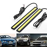 Komingo Sold 2 Pcs Set Waterproof Aluminum High Power 6w 6000k Xenon White Slim COB LED DRL Daylight Driving Daytime Running Light Lamp for Car SUV Sedan Coupe Vehicle