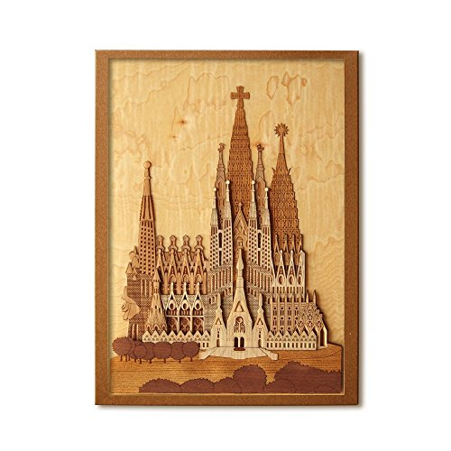 KINOWA Wooden Art Kit Kiharie Sagrada Familia Made in Japan