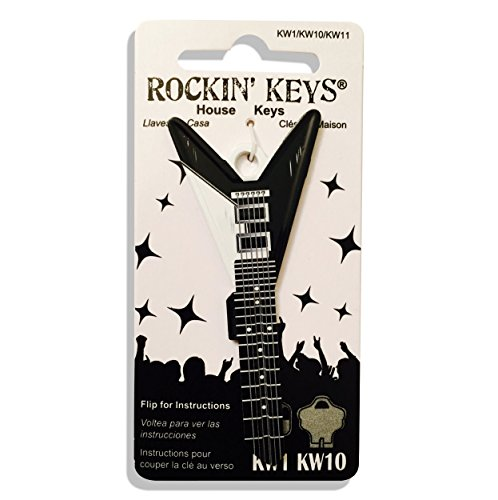 - Black V Electric Guitar Shaped Rockin' Key Kwikset KW1 KW10