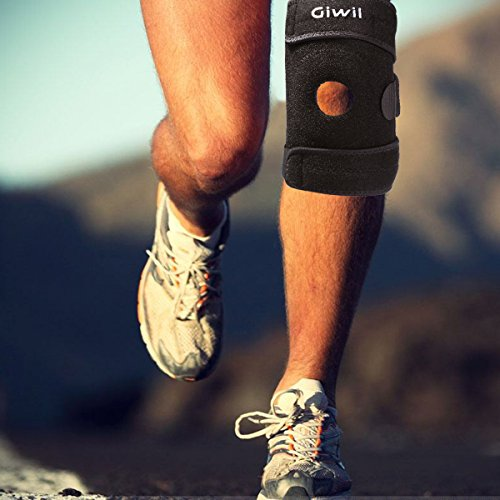 13a19e8721 Giwil Pro Knee Brace Support Protector Open-Patella Stabilizer with Adjustable  Strapping & Extra-
