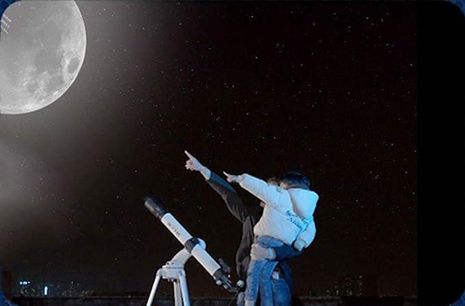 Telescopio Astron/ómico TELMU Apto para Principiantes y Aficionados para ni/ños tr/ípode s/úper Ligero para observar Estrellas celestiales Lunares