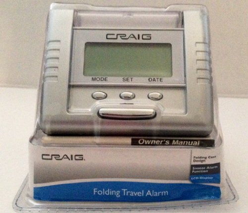 Craig Folding Travel Alarm