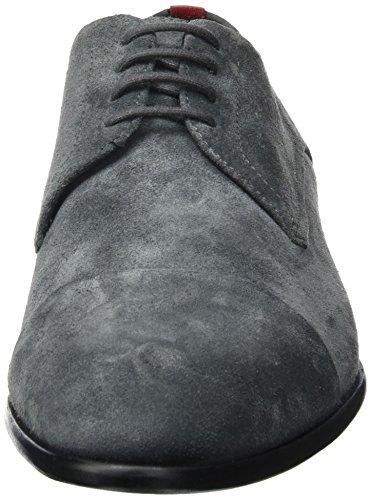 HUGO Dressapp_derb_sdct 10201359 01, Scarpe Stringate Uomo, Grigio (Dark Grey), 42 EU