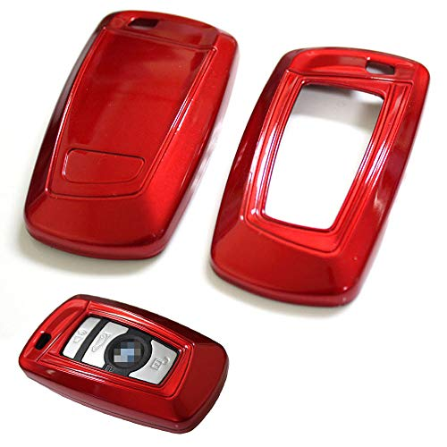 iJDMTOY Exact Fit Gloss Metallic Red Smart Key Fob Shell For BMW 1 2 3 4 5 6 7 Series (Bmw 3 Series Key Ring)