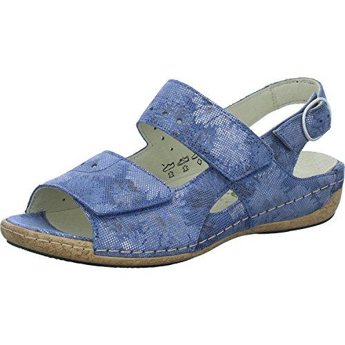 206 Waldlaufer Womens Floral 342011 Heliett Blue 168 Velrco Sandali TASvZ7