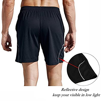 """1994Fashion Men's Running Shorts Gym Athletic Shorts with Pockets Quick Dry 7""""for Sports,Trainning,Workout: Clothing"""