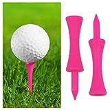 TRIXES 100 Pcs Castle Golf Tees Pink 60mm