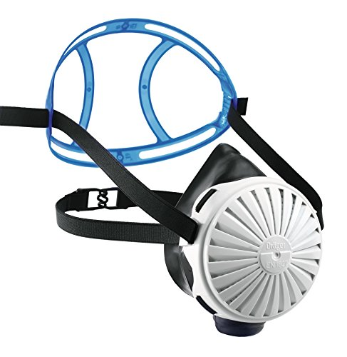 Drger X-plore 2100 EPDM Half Mask with 5 Particle Filters P100 | one Size fits Most | Silicone-Free NIOSH-Approved Reusable Respirator mask