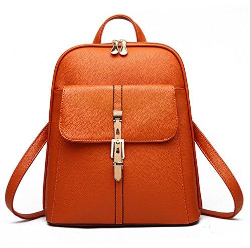 Flada - Bolso mochila  para mujer azul azul mediano marrón