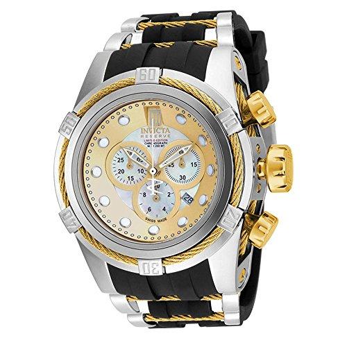Invicta 14953 Men's Ltd Ed Jason Taylor Reserve Chrono Black Polyurethane Mop Dial Watch