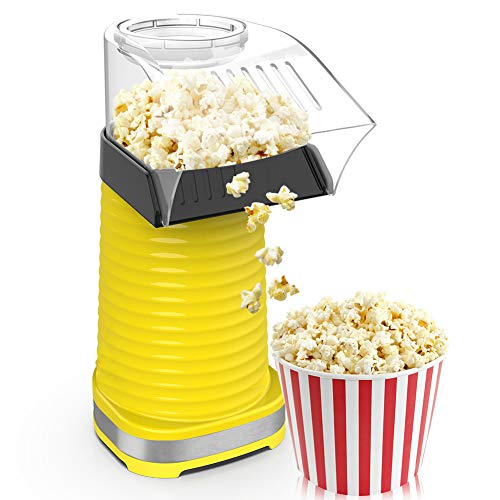 1200W Fast Hot Air Popcorn Popper With Top Cover,Electric Popcorn Maker Machine,Healthy & Delicious Snack For Family Gathering,Easy To Clean,ETL Certified,Safe