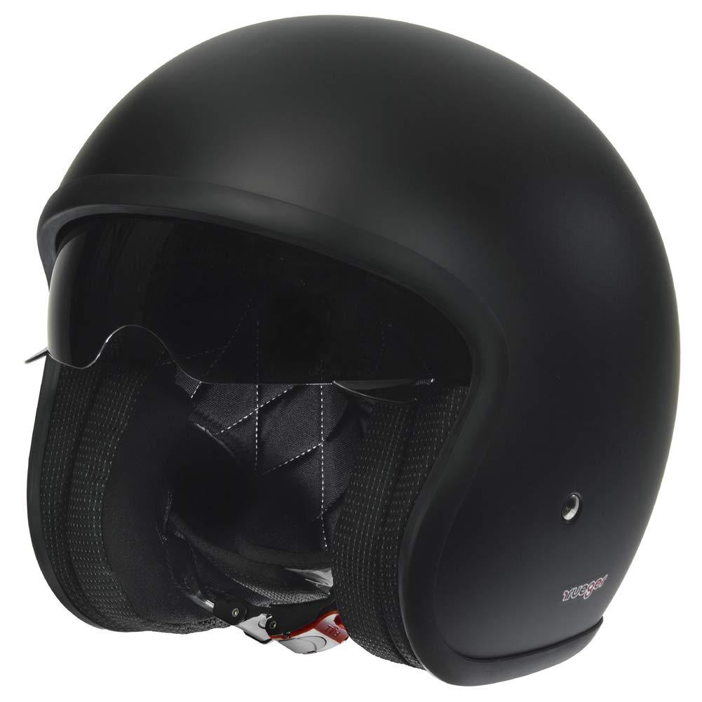 RC-590 Jethelm Custom Motorradhelm Chopper Chopper Motorrad Roller Helm rueger Gr/ö/ße:XS 53-54 Farbe:Rebell