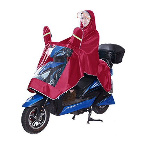 Anyoo Waterproof Rain Poncho Bike Bicycle Rain Capes Lightweight Compact Reusable for Adults Blue